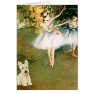 Scottish Terrier (W5) - Two Dancers Card