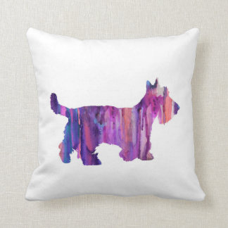Scottish Terrier, watercolor Scottish Terrier Cushion