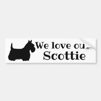 Scottish Terrier, We love our Scottie Bumper Sticker