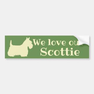 Scottish Terrier, We love our Scottie/wheaten Bumper Sticker