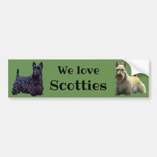 Scottish Terrier, We love our, wheaten/black Bumper Sticker