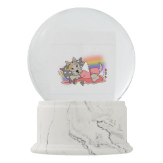 scottish terrier wheaten girl snow globe