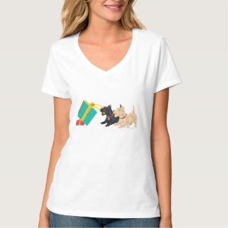 Scottish Terriers at Christmas T-Shirt