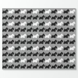 Scottish Terriers Pattern Wrapping Paper