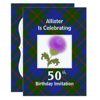 Scottish Themed Celebration Party Invitations