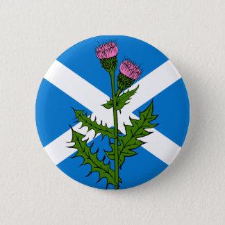 Scottish thistle 6 cm round badge