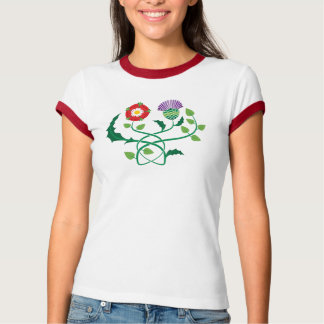 Scottish Thistle and English Rose Tee