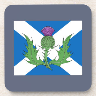 Scottish Thistle and Saltire Coaster