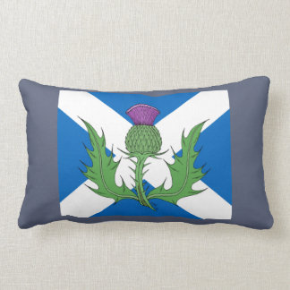 Scottish Thistle and Saltire Lumbar Cushion