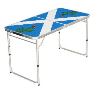 Scottish thistle beer pong table