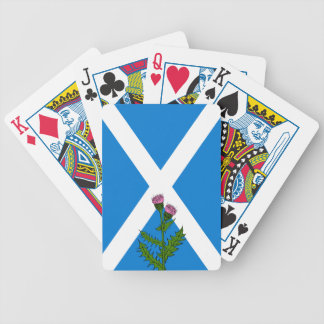 Scottish thistle bicycle playing cards
