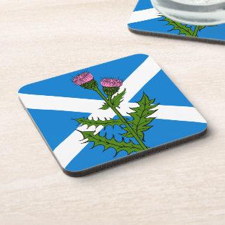 Scottish thistle coaster