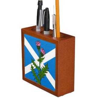 Scottish thistle desk organiser