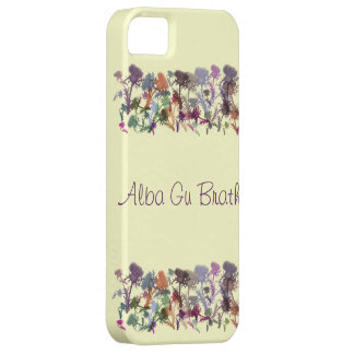 Scottish Thistle Gaelic Alba Gu Brath i-Phone Case