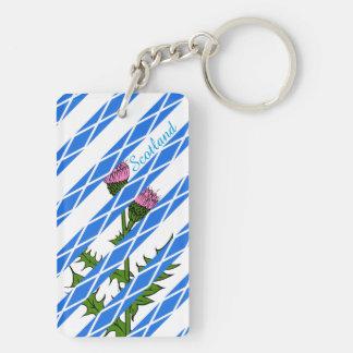 Scottish thistle key ring