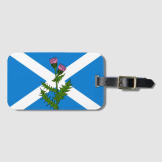 Scottish thistle luggage tag