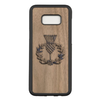Scottish Thistle on a Carved Samsung Galaxy S8+ Case