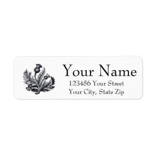 Scottish Thistle Personalize Return Address Label