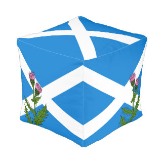 Scottish thistle pouf