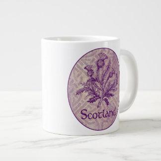 Scottish Thistle Purple Celtic Knot Jumbo Mug