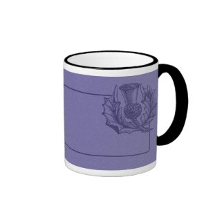 Scottish Thistle Ringer Mug