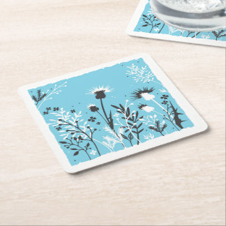 Scottish Thistle Square Paper Coaster