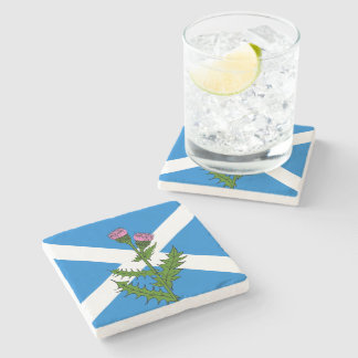 Scottish thistle stone coaster