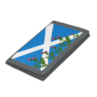 Scottish thistle trifold wallet