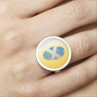 Scottish touch fingerprint flag