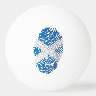 Scottish touch fingerprint flag ping pong ball