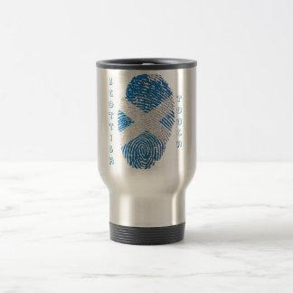 Scottish touch fingerprint flag travel mug