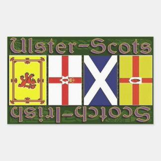 Scottish & Ulster flags Rectangular Sticker
