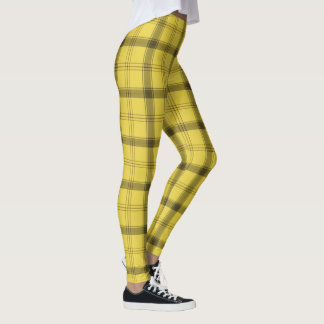 Scottish Yellow Tartan Leggings