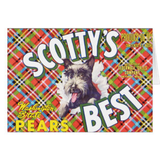 Scotts Best Pears - Fruit Crate Label Greeting Card