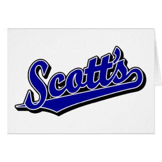 Scott's in Blue Card