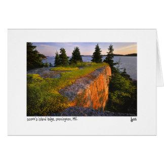 Scott's island ledge photo card