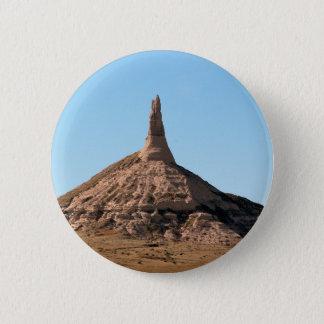 Scottsbluff Nebraska Chimney Rock Spire 6 Cm Round Badge