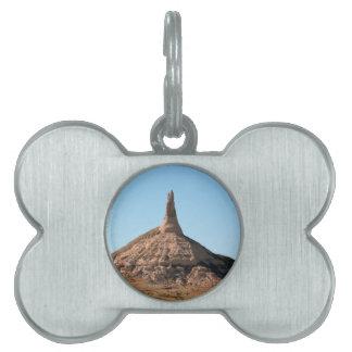 Scottsbluff Nebraska Chimney Rock Spire Pet Tag
