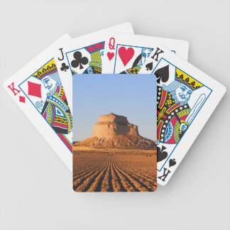 Scottsbluff Nebraska Farming Harvest Fall Sunset Bicycle Playing Cards