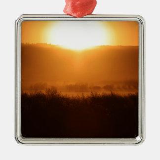 Scottsbluff Nebraska Farming Harvest Fall Sunset Metal Ornament