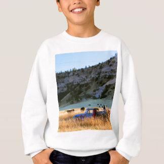 Scottsbluff Nebraska Farming Harvest Fall Sunset Sweatshirt