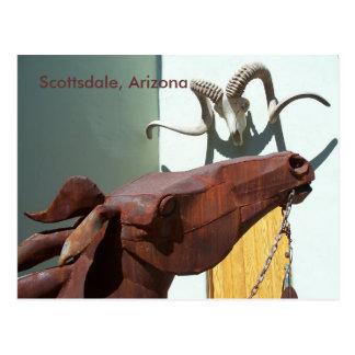 Scottsdale Arizona Arts District PostCard Photo AZ