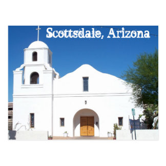 Scottsdale Arizona Old Mission Postcard West US