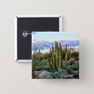 Scottsdale Succulent Sunset 15 Cm Square Badge