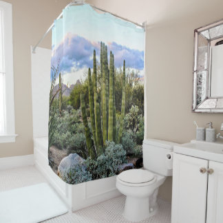 Scottsdale Succulent Sunset Shower Curtain