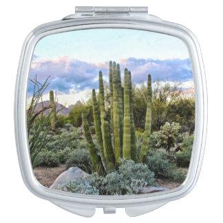 Scottsdale Succulent Sunset Travel Mirror