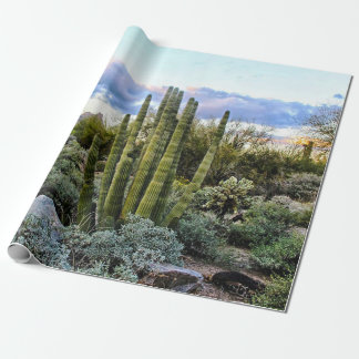 Scottsdale Succulent Sunset Wrapping Paper
