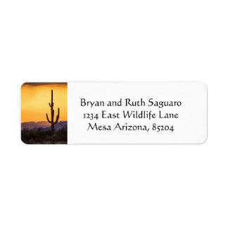 Scottsdale sunset before the storm return address label