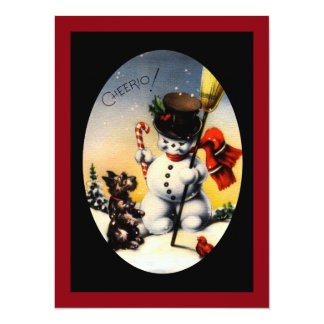 """Scotty and Snowman say """"cheerio!"""" Card"""