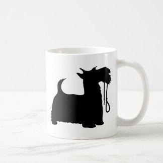 Scotty Dog and Leash Basic White Mug